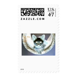 ¡Ahora, esto es un gato alient!!! Sellos Postales
