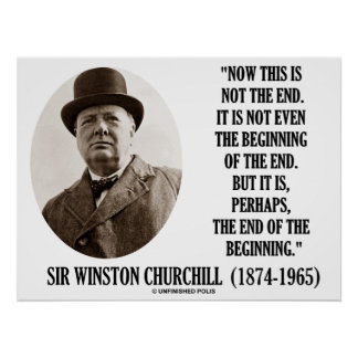 Ahora esto no el principio del final (Winston Chur Poster