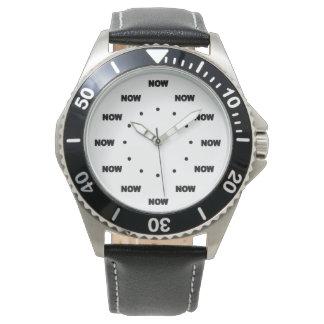 """AHORA"" (fondo blanco) #3 ultra fresco Reloj"