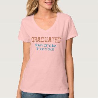 Ahora graduado soy camiseta divertida de la polera