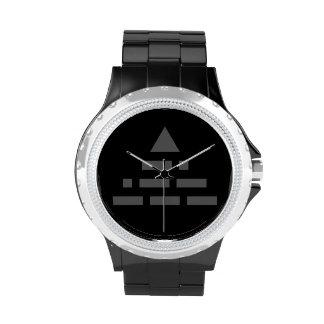 AHORA gris de la pirámide (código Morse) Relojes De Mano