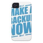 ¡Ahora haga un respaldo! iPhone 4 Case-Mate Protector