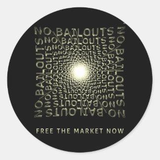 Ahora libere el mercado pegatina redonda