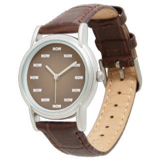 """""""AHORA"""" mire (Brown) Reloj De Mano"""
