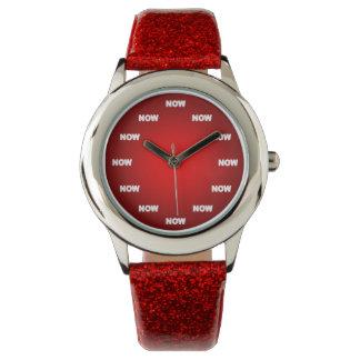 """""""AHORA"""" mire (el rojo) Reloj De Mano"""