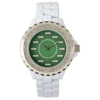 """""""AHORA"""" mire (el verde) Reloj De Mano"""