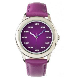"""AHORA"" mire (la púrpura) Relojes"