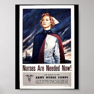 ¡Ahora necesitan a la enfermera! Póster