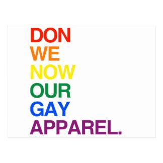 AHORA NOSOTROS DON NUESTRA ROPA GAY - PNG POSTAL