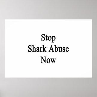 Ahora pare el abuso del tiburón póster