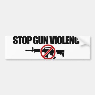 ¡AHORA pare la violencia armada! Pegatina Para Auto