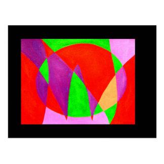 AHORA pintado en arte abstracto de la palabra o Tarjetas Postales