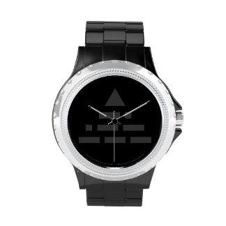 AHORA pirámide (código Morse) gris oscuro Relojes De Mano