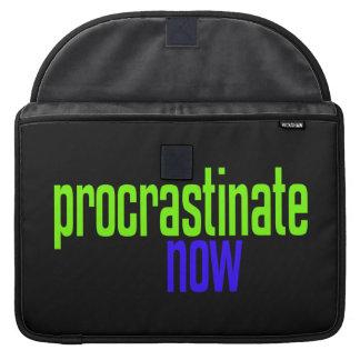 Ahora procrastine fundas para macbook pro