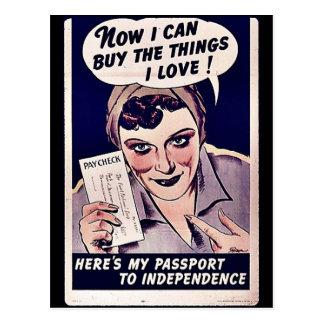 ¡Ahora puedo comprar el amor de las cosas I! Postal