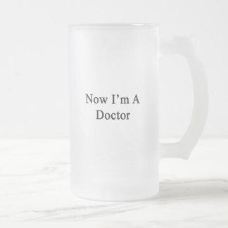 Ahora soy doctor jarra de cerveza esmerilada