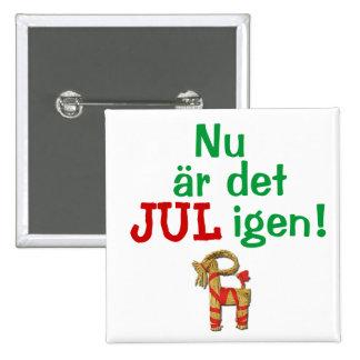 ¡Ahora su navidad otra vez! Sueco Julbock Pin Cuadrada 5 Cm