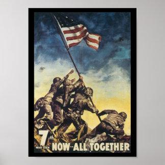 Ahora todos junto guerra mundial 2 póster