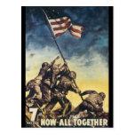 Ahora todos junto guerra mundial 2 tarjeta postal