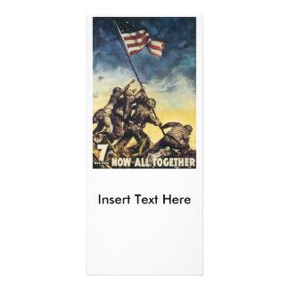 Ahora todos junto guerra mundial 2 tarjeta publicitaria a todo color