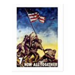 Ahora todos junto ~ Iwo Jima Tarjetas Postales
