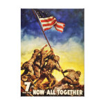 Ahora todos junto poster de la guerra del vintage impresiones en lienzo estiradas