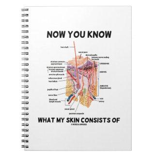 Ahora usted sabe lo que consiste en mi piel la der cuadernos