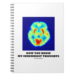 Ahora usted sabe mis pensamientos íntimos (la expl libro de apuntes con espiral