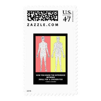 Ahora usted sabe varicela de la viruela de la timbre postal