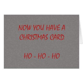 Ahora usted tiene una tarjeta de Navidad