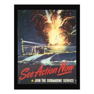 """Ahora vea la Segunda Guerra Mundial de la acción Folleto 8.5"""" X 11"""""""