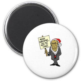 Ahora vuelva trabajar el navidad Boss Imán Redondo 5 Cm