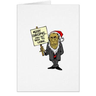 Ahora vuelva trabajar el navidad Boss Tarjeta De Felicitación
