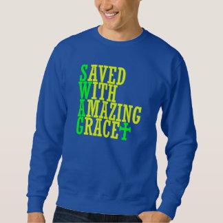 Ahorrado con la camiseta asombrosa del cristiano sudadera