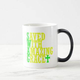 Ahorrado con la taza de café cristiana del SWAG as
