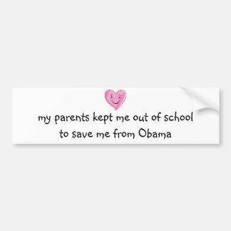 ¡Ahorrado de Obama! Etiqueta De Parachoque