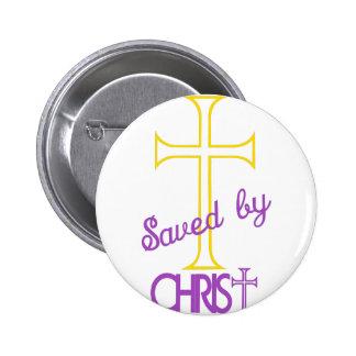 Ahorrado por Cristo Pin Redondo De 2 Pulgadas