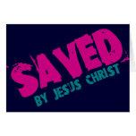 AHORRADO por Jesucristo Felicitación