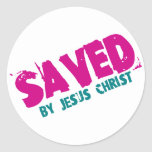 AHORRADO por Jesucristo Pegatina Redonda