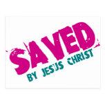 AHORRADO por Jesucristo Tarjeta Postal