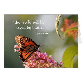 ahorrado por la belleza… tarjeta de felicitación