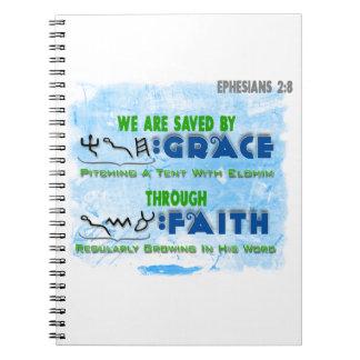 Ahorrado por la tolerancia con la fe cuadernos