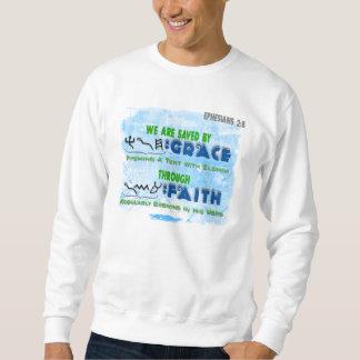 Ahorrado por la tolerancia con la fe sudadera con capucha