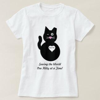 Ahorrando el mundo, un gatito a la vez playera