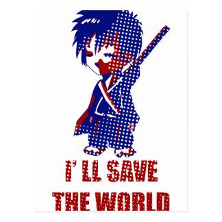 Ahorraré al muchacho del samurai del mundo postal