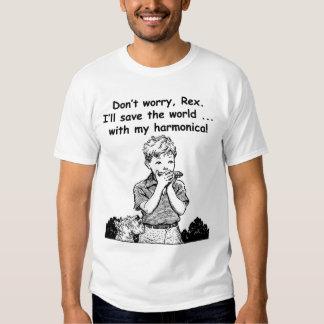 ¡Ahorraré el mundo… con mi armónica! Camisas