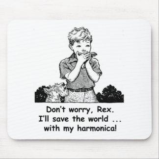 ¡Ahorraré el mundo… con mi armónica! Tapetes De Raton