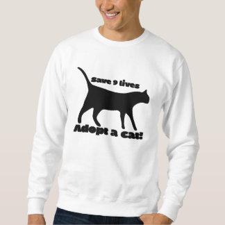 Ahorre 9 vidas adoptan un gato pulover sudadera