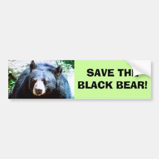 Ahorre a la pegatina para el parachoques del oso n etiqueta de parachoque