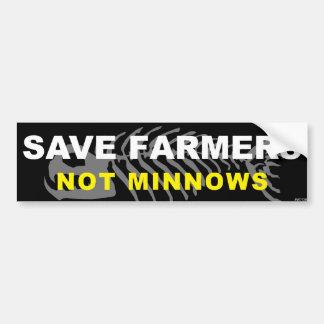 Ahorre a los granjeros pegatina para auto